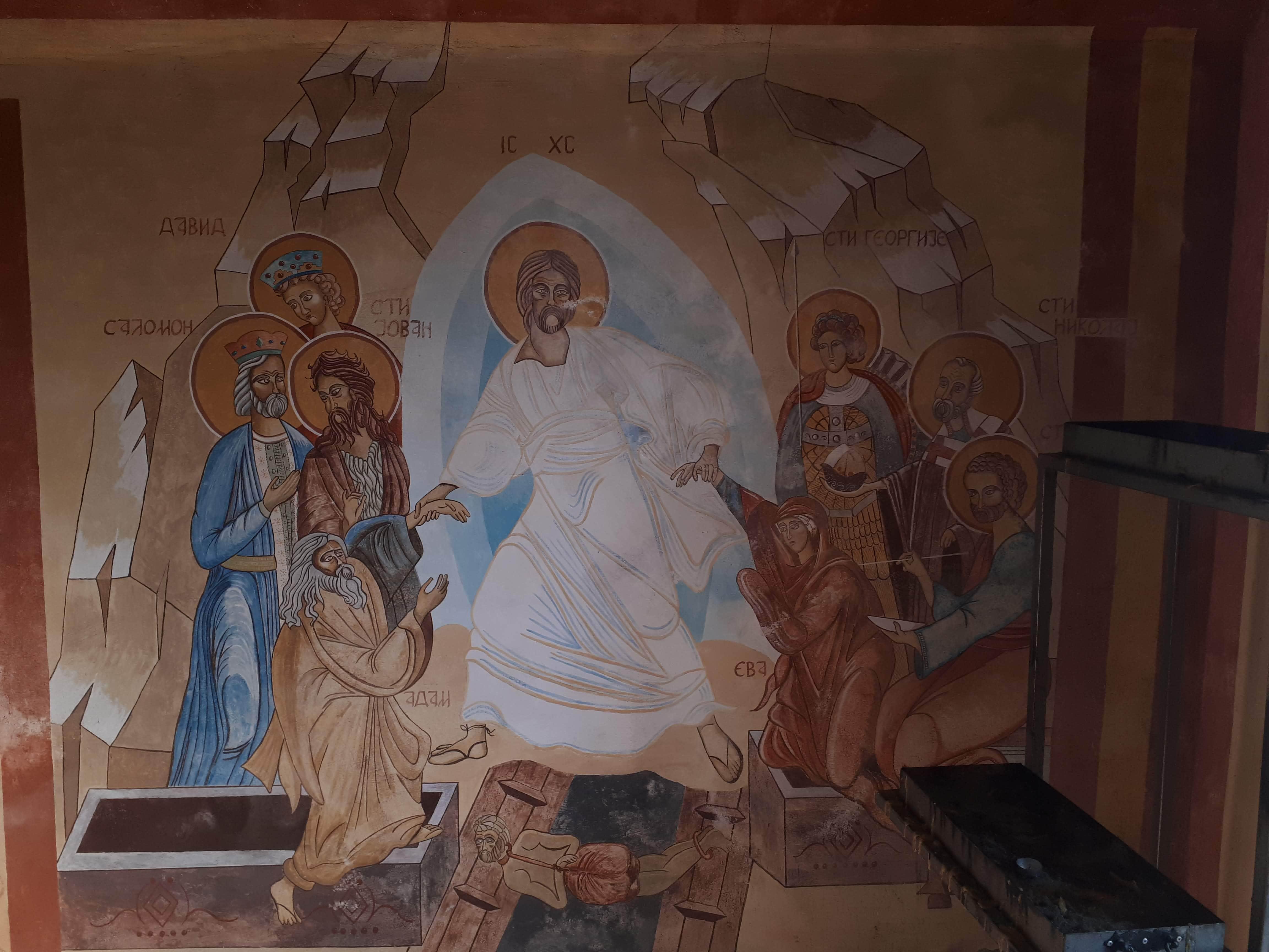 Crkva u Zvinjama zivopis