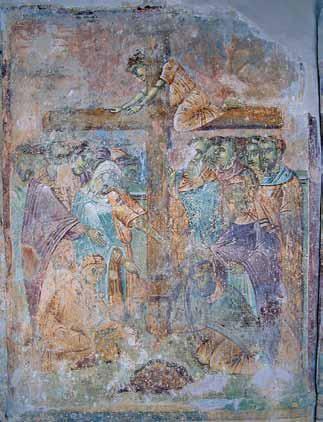 ostecena freska hristovog raspeca manastir matejca