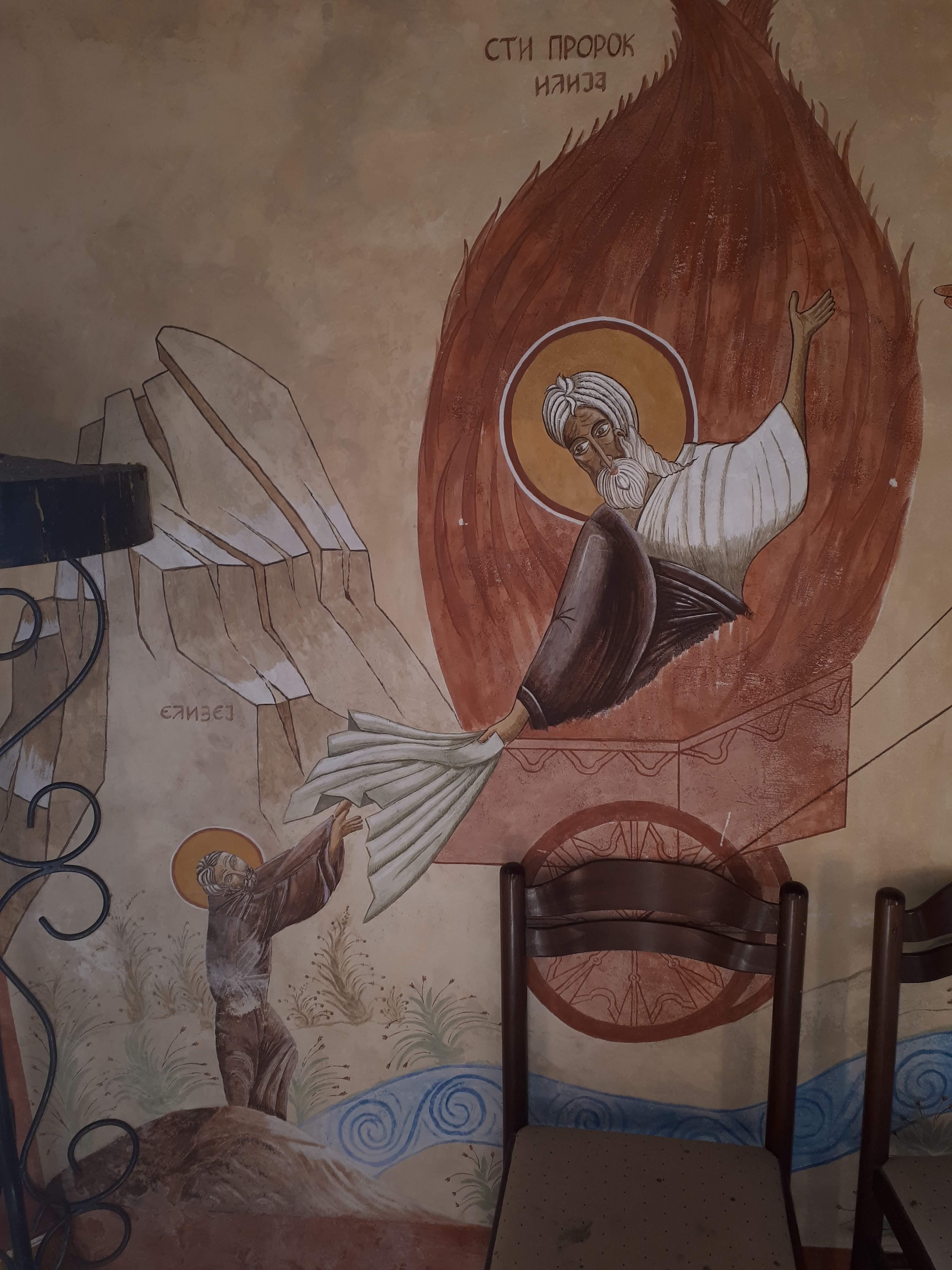 sveti prorok ilija u crkvi u Zvinjama kod Herceg Novog