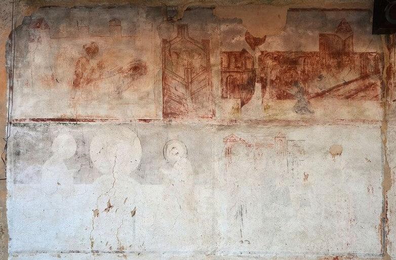 freske u manastru Nikolje na juznom zidu