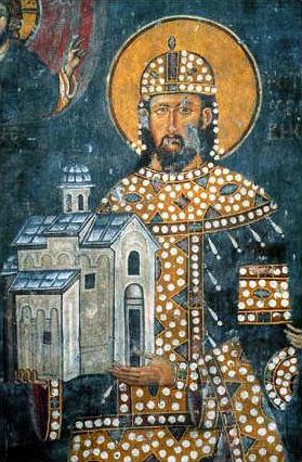 kralj milutin freska u manastiru raca