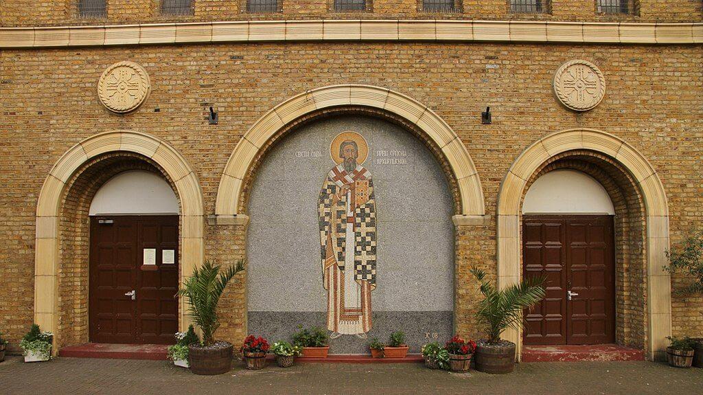 ulaz u crkvu sv. save u Londonu