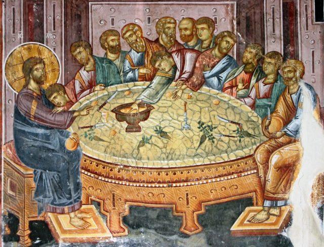 tajna vecera freska studenica