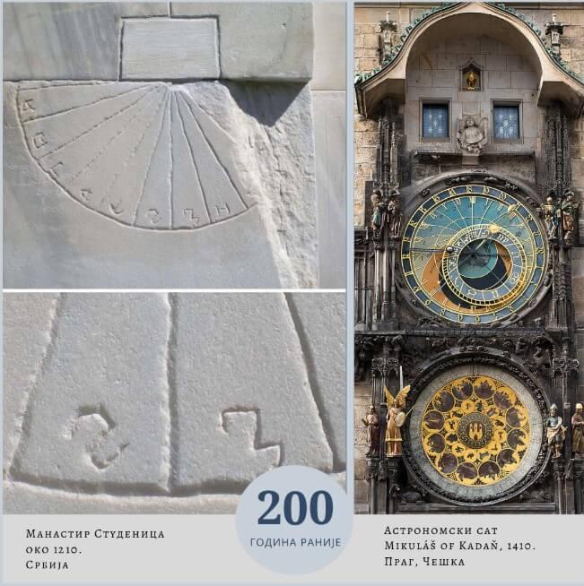 manastir studenica praski astronomski sat